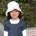 子供用リネン帽子