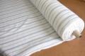 リネン 生地 水色ストライプ クロス幅112cm(10cm単位)【麻】【手作り】【ハンドメイド】