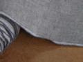 先染リネン 生地 グレー クロス幅104cm(10cm単位)【麻】【手作り】【ハンドメイド】