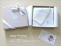 リネン ハンカチ ーフ薄手80番手 レースマリー ギフトセットJ【ブライダル】【花嫁】【結婚】【御祝】【誕生日】【プレゼント】【麻】【贈り物】