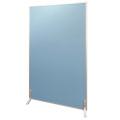 アルミ枠生地張りつい立 ブルー H1800×W1200×厚24