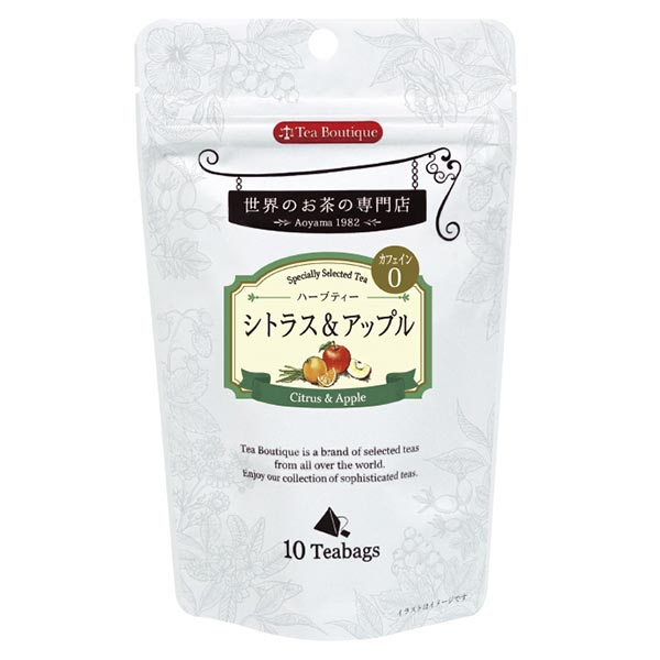 Tea Boutique シトラス&アップル 10ティーバッグ [10309](115738)[賞味期限2023/02/01]