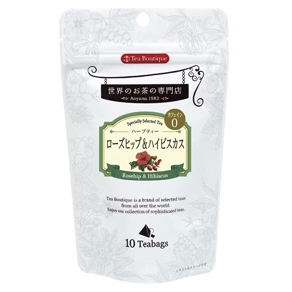 Tea Boutique ローズヒップ&ハイビスカス 10ティーバッグ [10423](115739)[賞味期限2023/04/01]