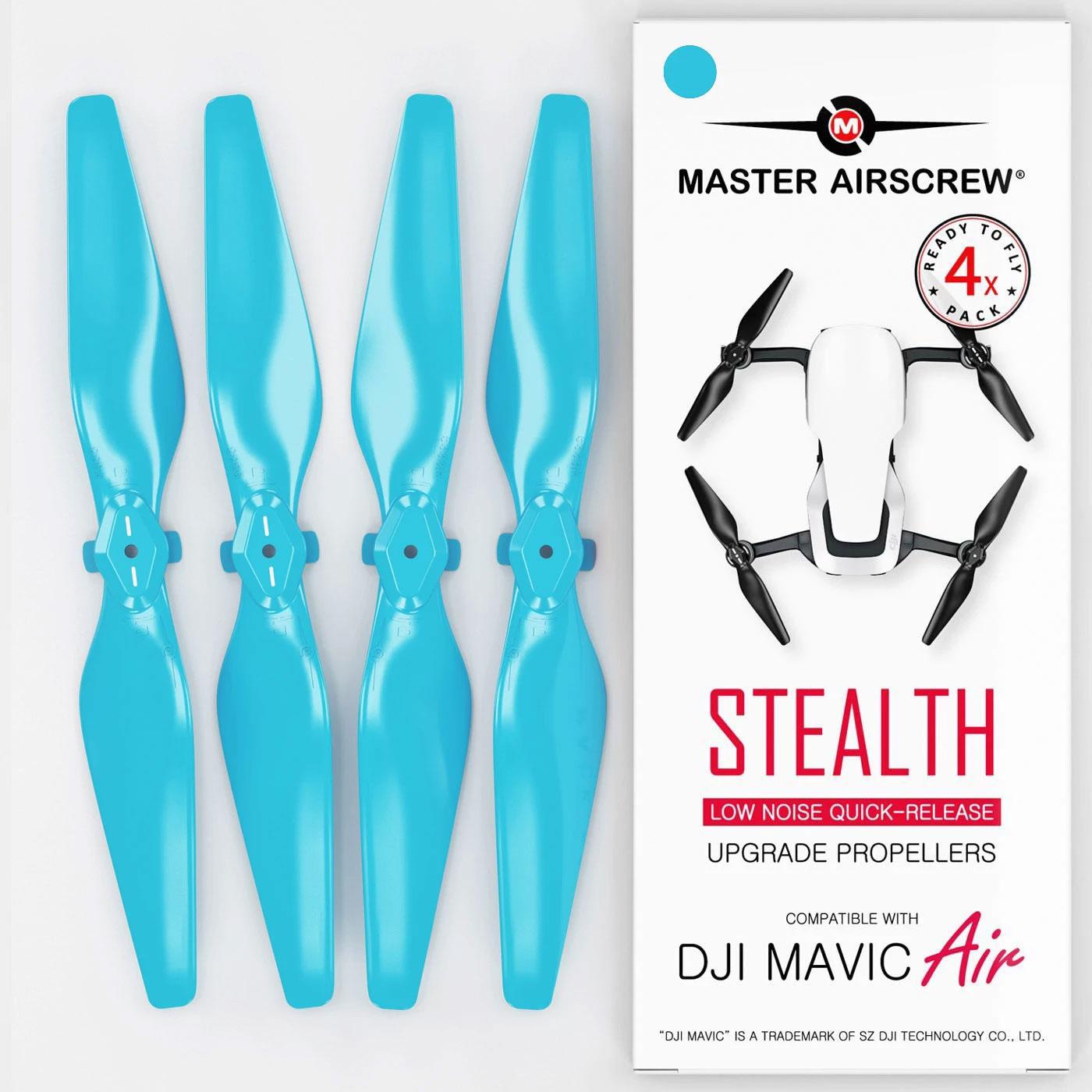 MA DJI Mavic Air用 STEALTHアップグレード・プロペラV2 5.3x3.3 (青)4本セットの大画像