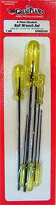 GP インチサイズ・ボールドライバー・6本セット- 6-pc. Standard Ball Wrench Set (GPMR8008)