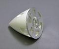 GPナイロンスピンナー(白)アルミバックプレート45mm(1-3/4インチ)