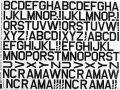 MJ 1インチアルファベット(黒)デカール