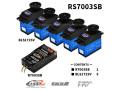 FUTABA 空用RSパック 「RS7003SB」 <R7003SB−BLS172SVx5(受信機&サーボパック)>