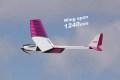 PILOT 小型モーターグライダー ラベンダー バルサキット (1.24m) 12158