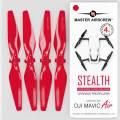 MA DJI Mavic Air用 STEALTHアップグレード・プロペラ  5.3x3.3  (レッド)4本セット
