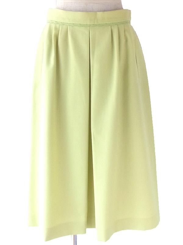 ヨーロッパ古着 ロンドン買い付け 60年代製 若草色 X 山道テープ ポケット付き ヴィンテージ スカート 18BS026