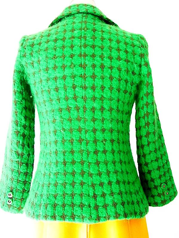 ヨーロッパ古着 ロンドン買付 グリーン ヴィンテージ ウール ジャケット