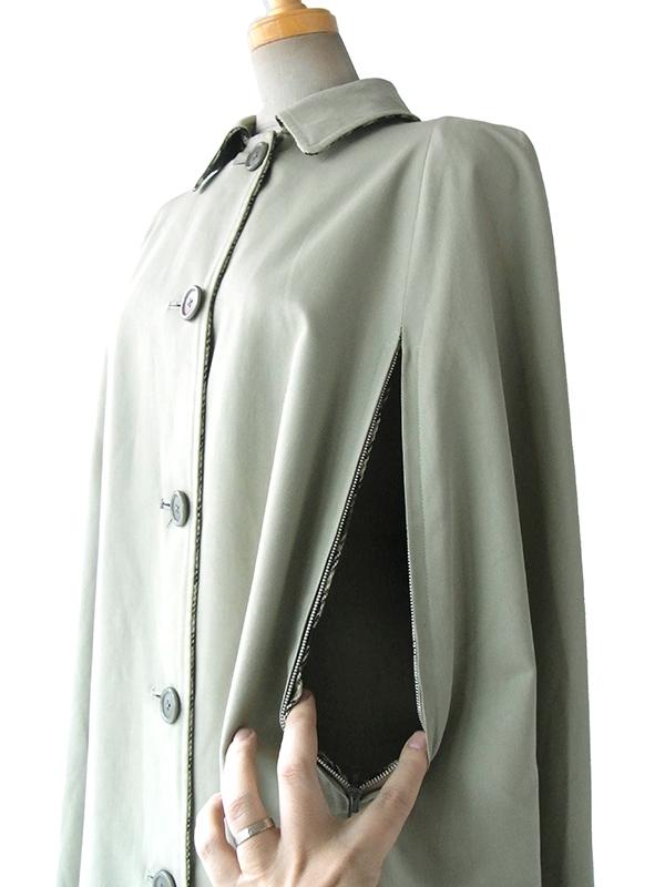 【送料無料】ロンドン買い付け グレイ X ブラック・レッド・水色 チェック柄 ウールツイードコート 15BS432【ヨーロッパ古着】