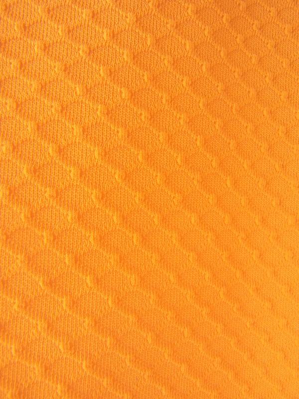 ヨーロッパ古着 ロンドン買い付け オレンジ X ワッフル地 レトロ ワンピース 16OM307