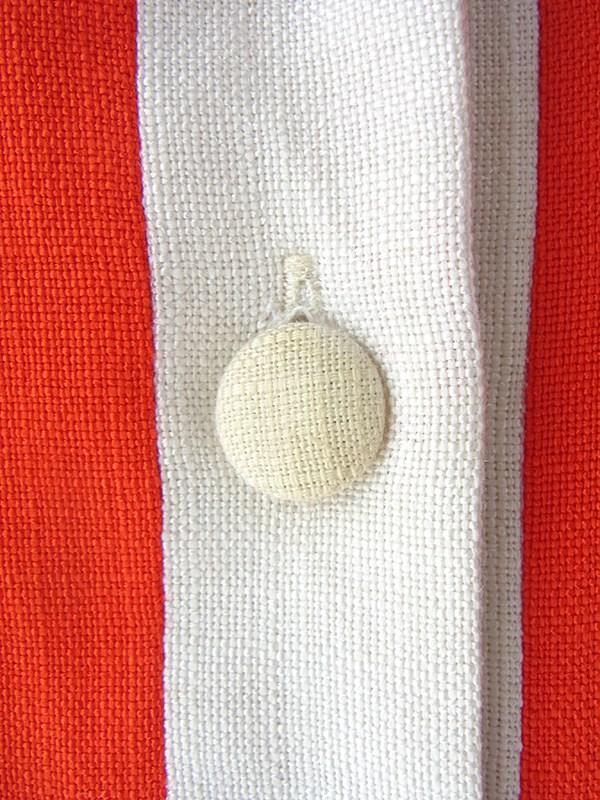 ヨーロッパ古着 ロンドン買い付け 60年代製 レッド X ホワイト バイカラー かわいい胸ポケット レトロ ワンピース 16OM530