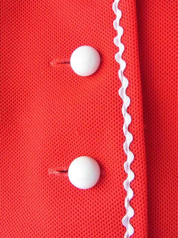 ヨーロッパ古着 ロンドン買い付け 70年代製 レッド X ホワイト 水玉ネクタイ付き セットアップ風 レトロ ワンピース 17BS200