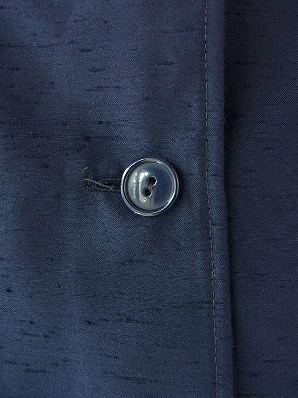 ヨーロッパ古着 フランス買い付け 60年代製 深いネイビー X 美麗シルエット ヴィンテージ ワンピース 18FC011