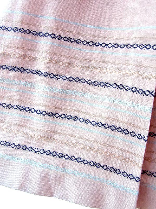 ヨーロッパ古着 フランス買い付け ペールピンク X ゴールド・シルバー・ブラック  チェイン柄 プリーツ スカート 18FC012