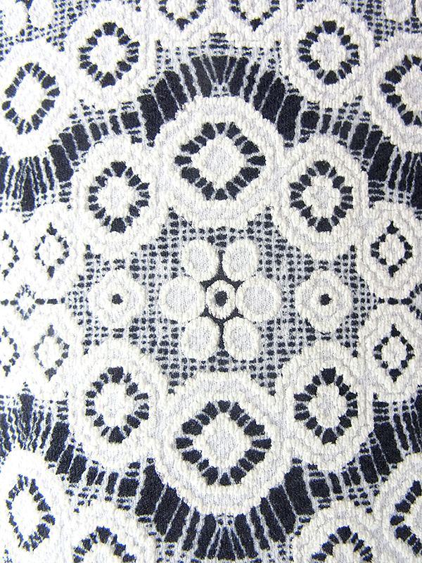 ヨーロッパ古着 フランス買い付け 70年代製 ホワイト X ブラック 総レース ヴィンテージ ドレス 18FC204