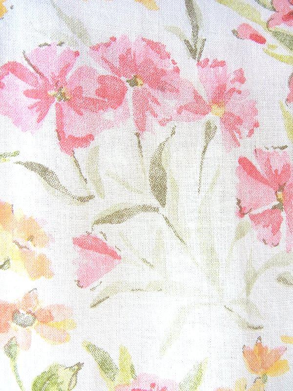 ヨーロッパ古着 フランス買い付け 60年代製 オフホワイト X パステルカラー 花柄 ふんわりシルエット ワンピース 18FC314