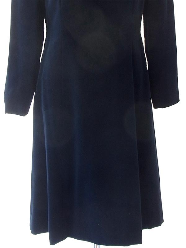 ヨーロッパ古着 ロンドン買い付けブラック X ベルベット ヴィンテージ ドレス 18OD003