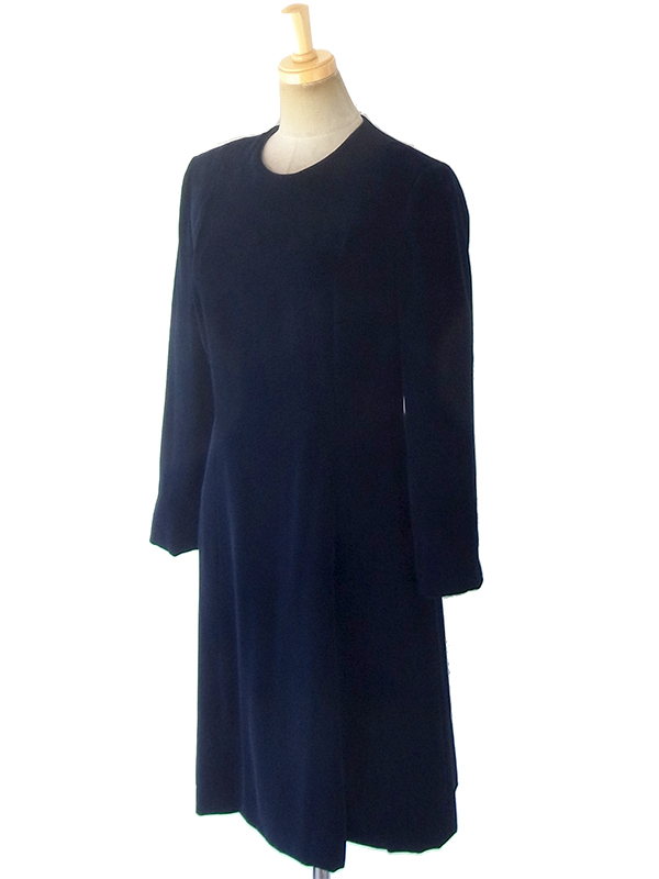 ヨーロッパ古着 ロンドン買い付けブラック X ベルベット ヴィンテージ ドレス 18OD004