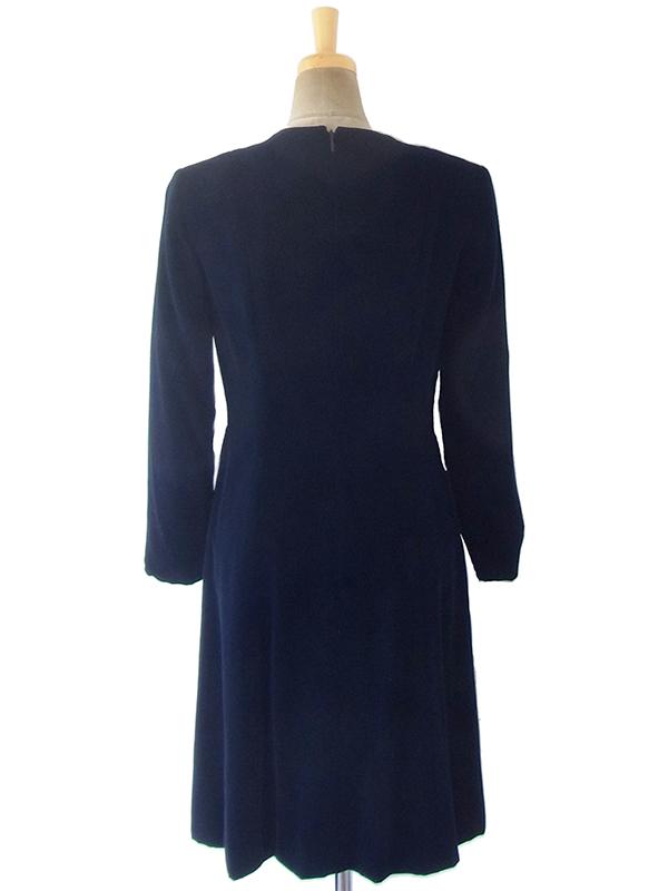 ヨーロッパ古着 ロンドン買い付けブラック X ベルベット ヴィンテージ ドレス 18OD006