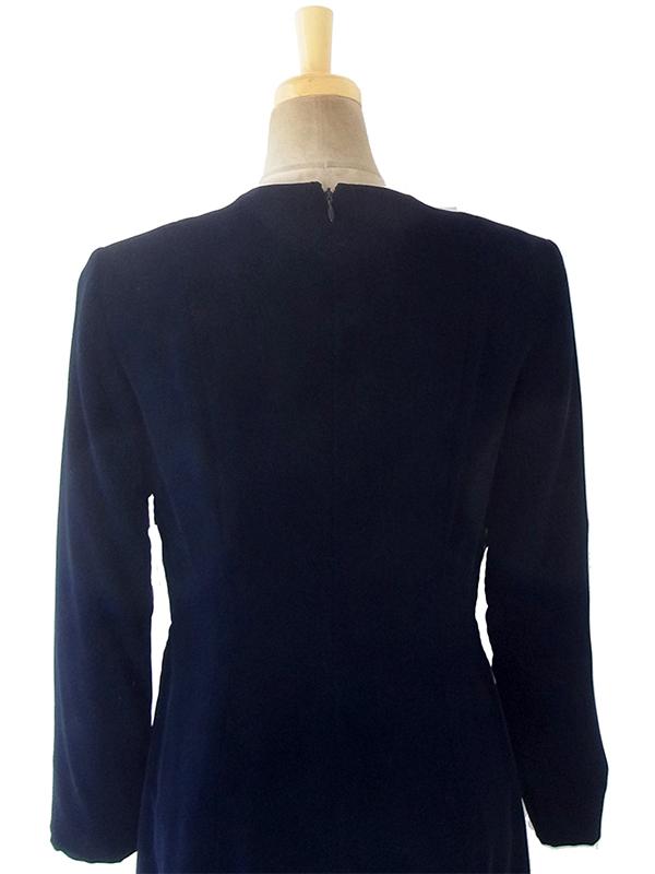 ヨーロッパ古着 ロンドン買い付けブラック X ベルベット ヴィンテージ ドレス 18OD007