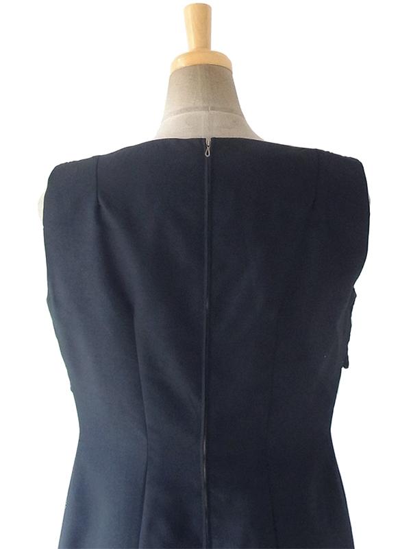 ヨーロッパ古着 ロンドン買い付け 70年代製 ブラック X クロシェレース ヴィンテージ ドレス 18OM131