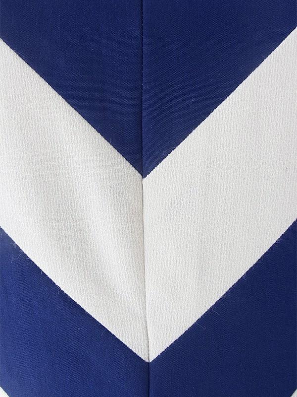 ヨーロッパ古着 ロンドン買い付け 60年代製 ホワイト X ブルー バイアス柄生地切り返し ヴィンテージ ワンピース 19BS000