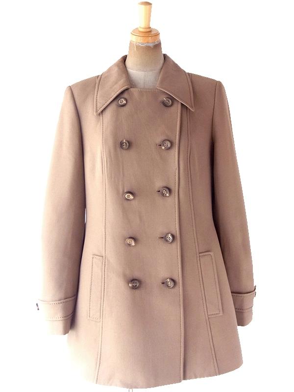 ヨーロッパ古着 フランス買い付け 60年代製 ブラウン X ヴィンテージ ウール コート 19FC419