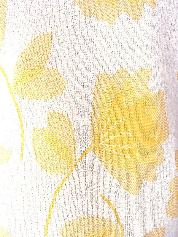 ヨーロッパ古着 ロンドン買い付け 70年代製 イエロー X 花柄 ヴィンテージ Aライン ワンピース 19OM706