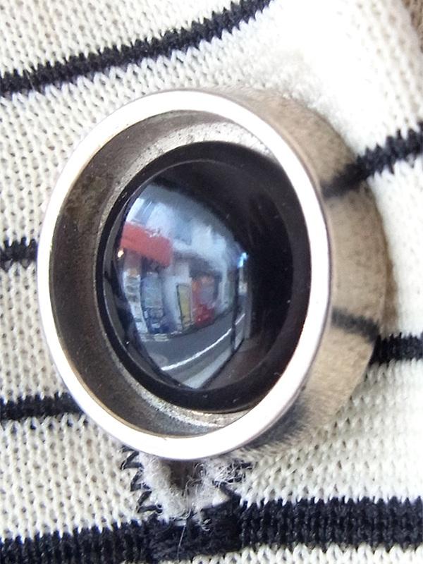 ヨーロッパ古着 ロンドン買い付け 70年代製 ブラック X ホワイト・レッド ボーダー デザインボタン レトロ ワンピース 20BS050