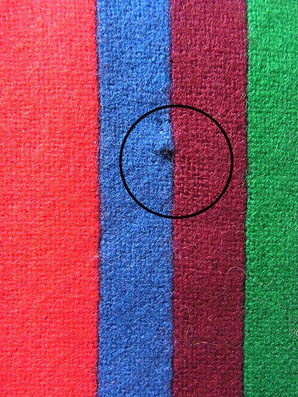 【ヨーロッパ古着】ロンドン買い付け カラフル ストライプ ウール スクール マフラー 20BS063【おとなかわいい】