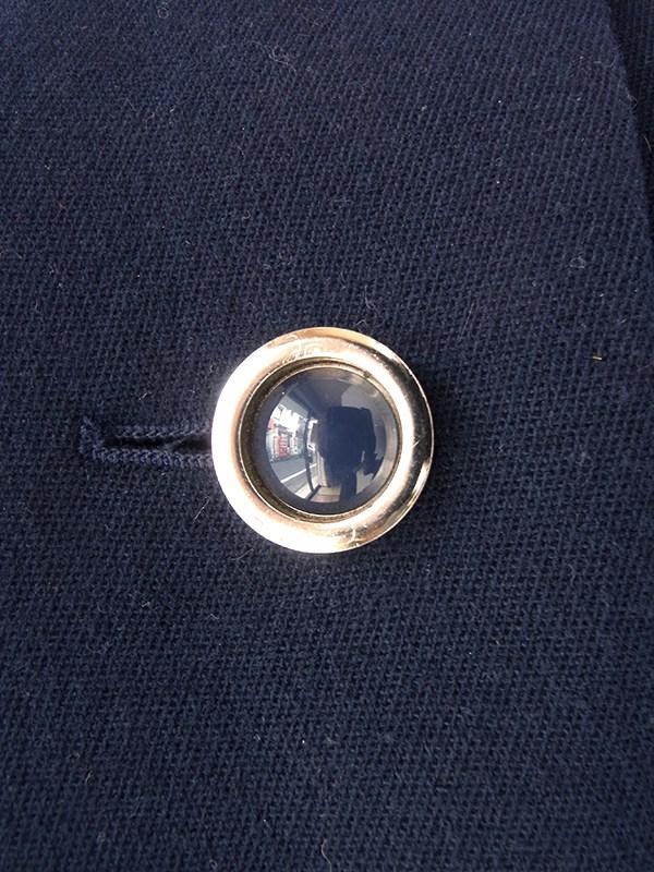 ヨーロッパ古着 ロンドン買い付け 60年代製 ネイビー X リアルファー襟 ヴィンテージ ウールコート 20BS202