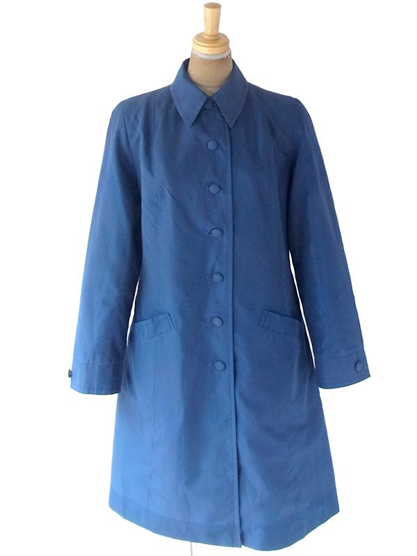 ヨーロッパ古着 60年代イギリス製 St.Michael ロイヤルブルー X Aライン コート 20BS203