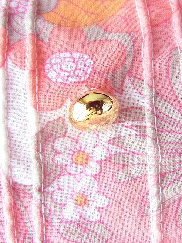 ヨーロッパ古着 ロンドン買い付け 60年代製 ピンク X オレンジ 花柄 タック・ステッチデザイン ワンピース 20FC009