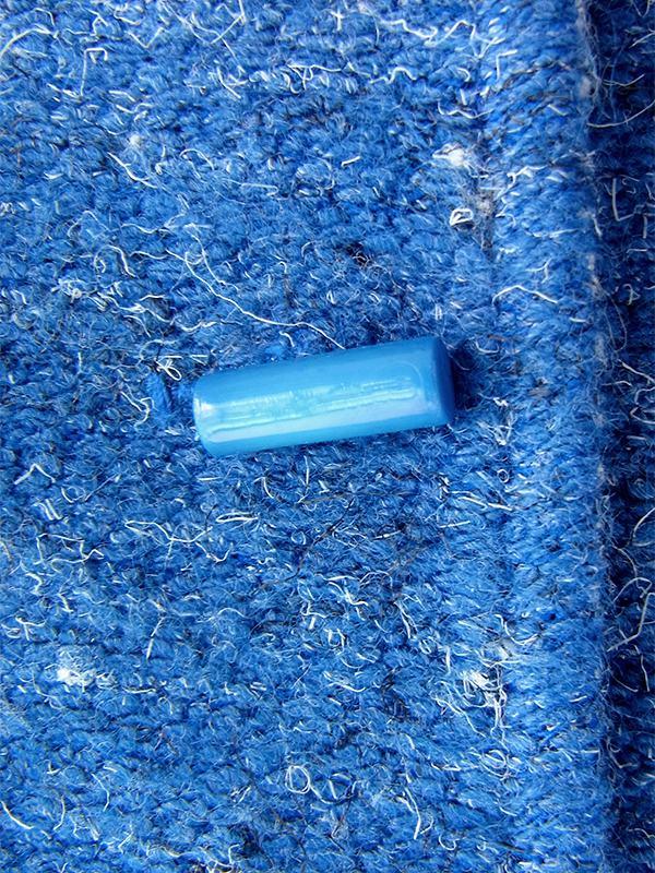 ヨーロッパ古着 フランス買い付け 60年代製 ブルー X ホワイト 襟・袖ストライプ 共布ベルト付き ヴィンテージ ワンピース 20FC611