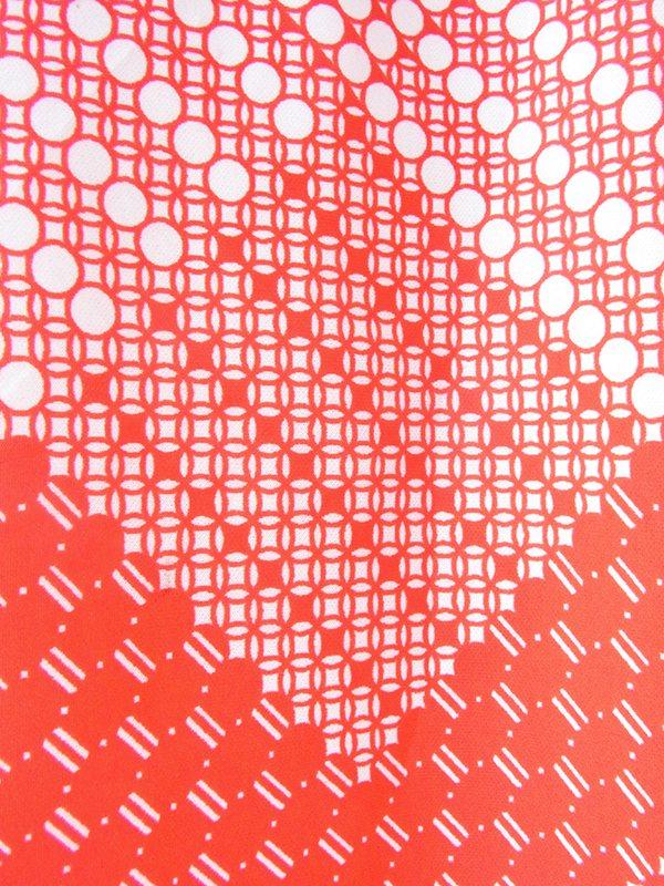 【ヨーロッパ古着】ロンドン買い付け レッド X ホワイト 水玉モチーフのレトロ柄 ワンピース 21OM610 【おとなかわいい】