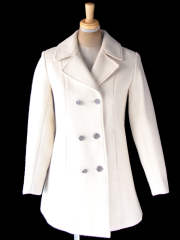 ヨーロッパ古着 フランス買い付け 60年代製 ホワイト ヴィンテージ ウール コート 20FC707