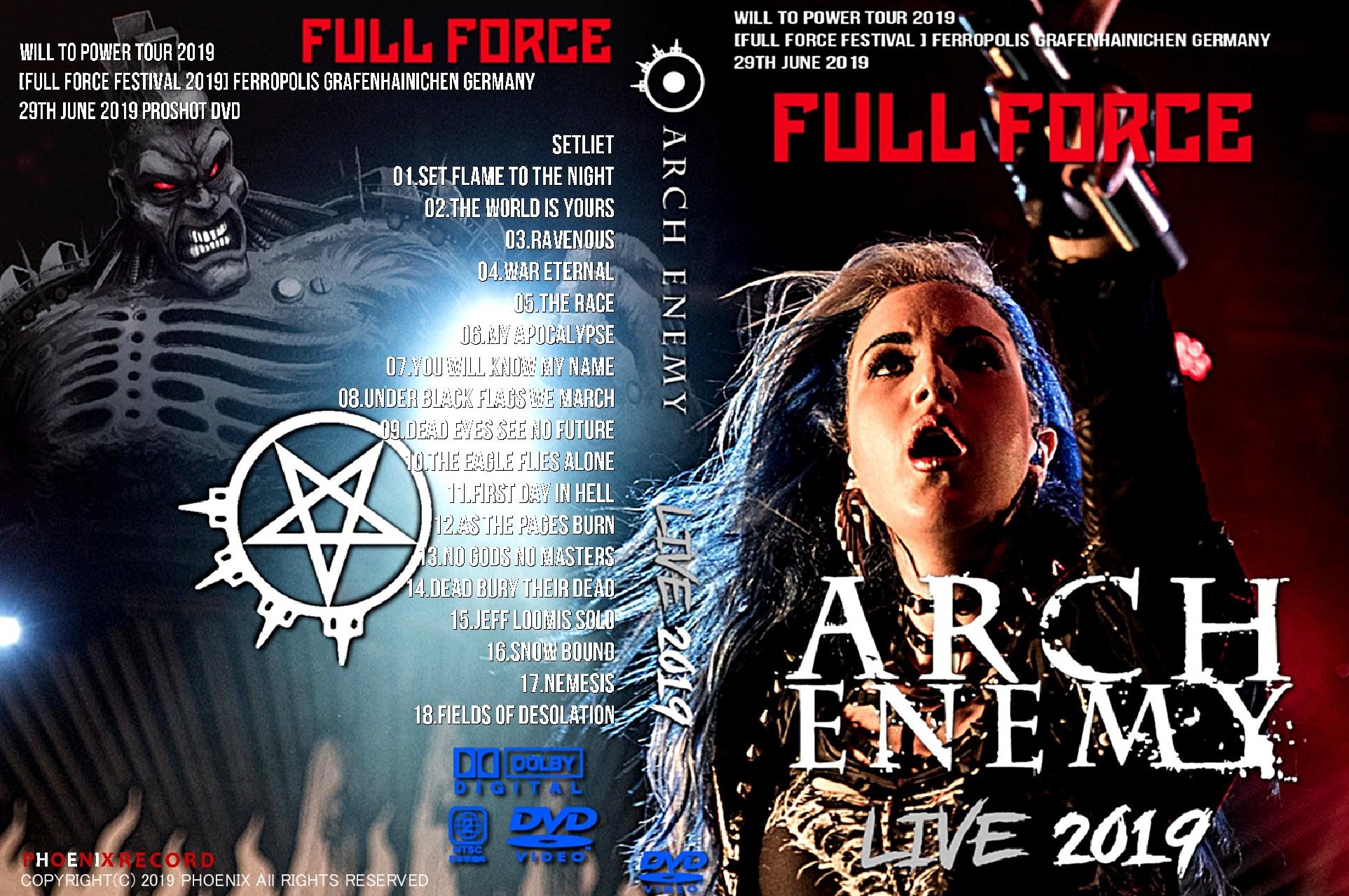 コレクターズDVD Arch Enemy - Will To Power Tour 2019