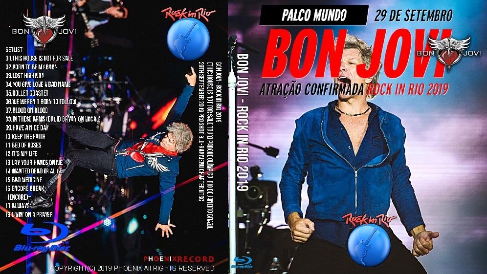 コレクターズBlu-ray Bon Jovi - Rock in Rio 2019