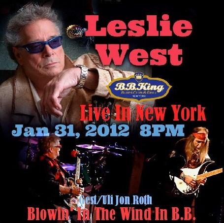 コレクターズCD Leslie West(レスリー・ウエスト)2012年 アメリカツアー NY
