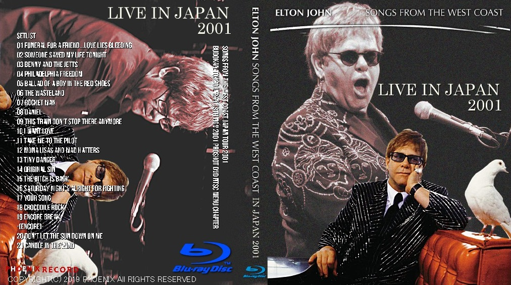コレクターズBlu-ray  Elton John  - Songs from the West Coast Japan Tour 2001