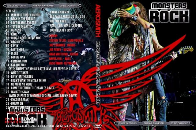 コレクターズDVD エアロスミス2013年10月22日Monsters Of Rock Brasil