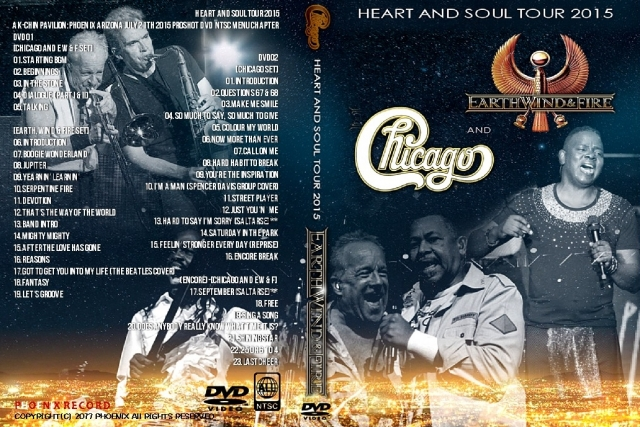 コレクターズDVD  Chicago and Earth, Wind & Fire - Heart and Soul Tour 2015