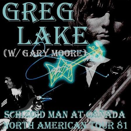 コレクターズCD グレッグ・レイク(Greg Lake)w/ Gary Moore 81年北米ツアー Toronto Canada 81.11.20