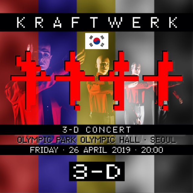 コレクターズCD Kraftwerk - 3D concert in South Korea 2019
