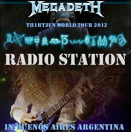 コレクターズCD メガデス(Megadeth)2012年南米公演 アルゼンチン