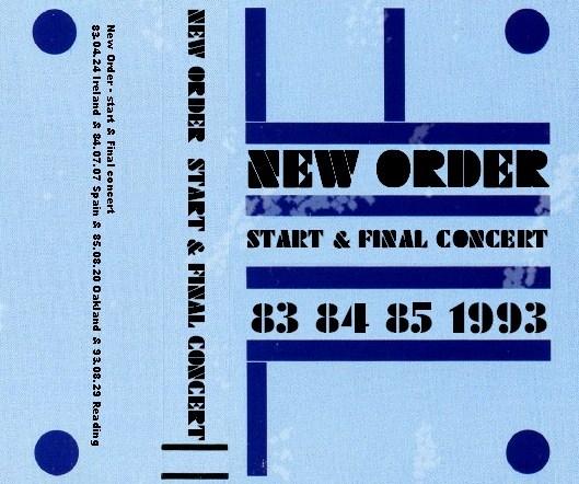 コレクターズCD ニュー・オーダー (New Order) 解散コンサート